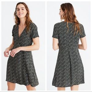 Madewell Button Wrap Dress in Playground Posies